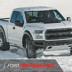 Ken Block Having Fun with a Raptor in the Snow